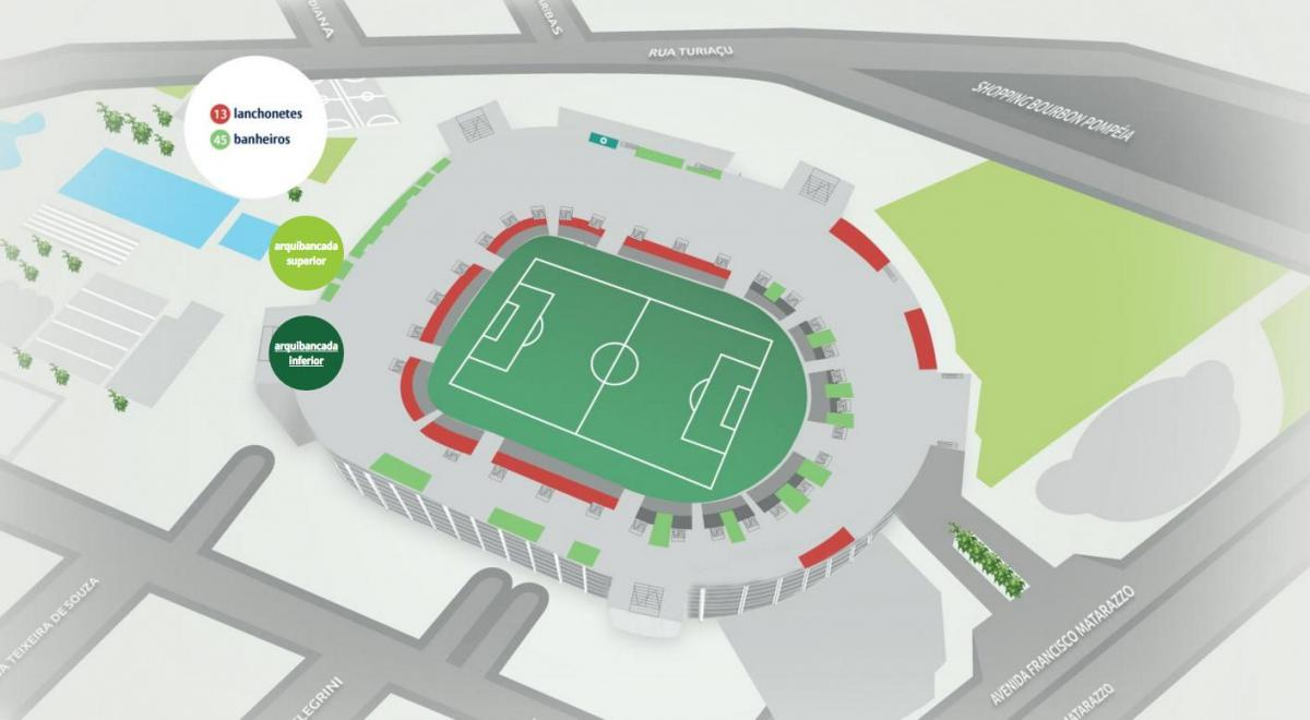 Carte Allianz Parque - Bas des gradins