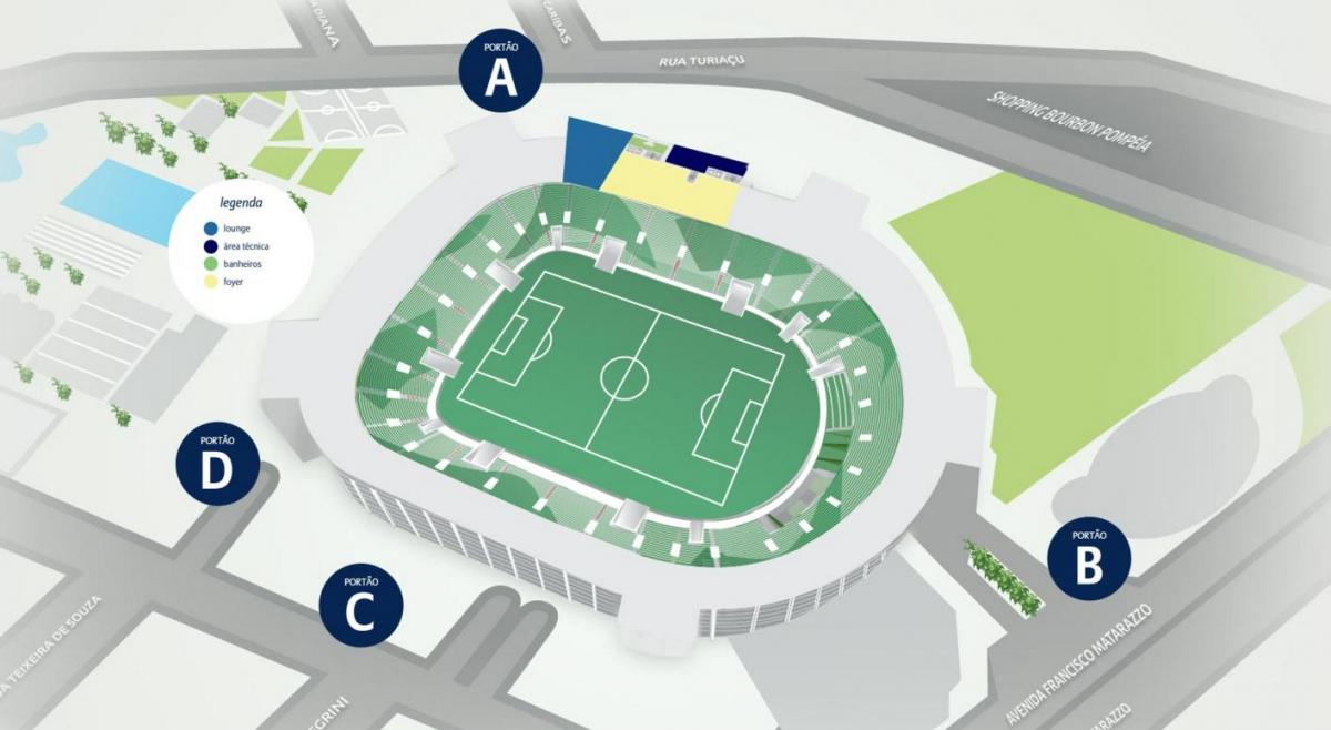 Carte Allianz Parque - Etage 2