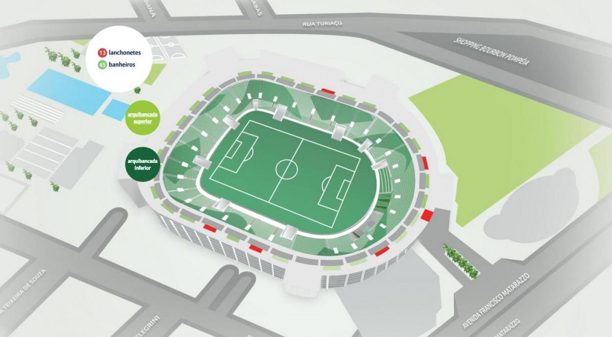 Carte Allianz Parque - Haut des gradins