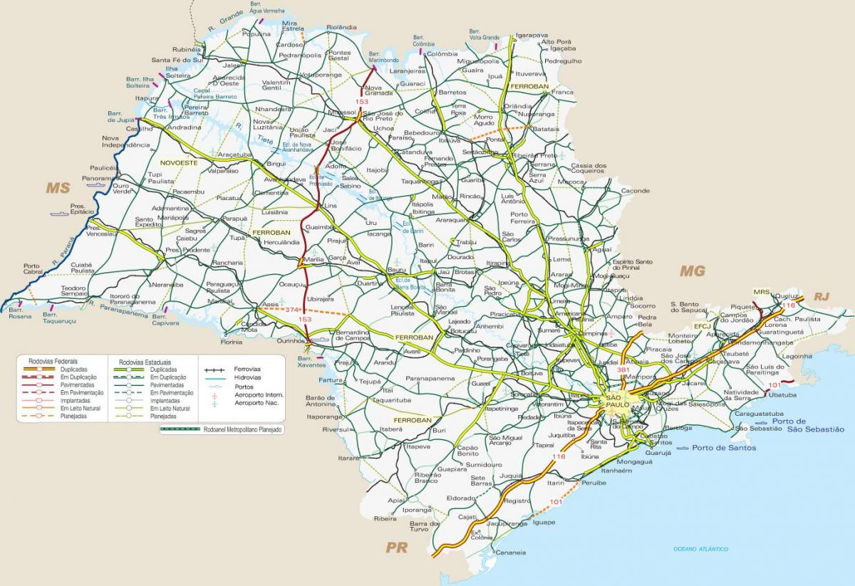Carte transport de SP